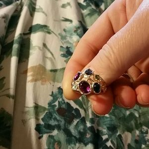 AMAZING VINTAGE MULTICOLORED RING